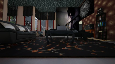 Design A Haunted House 4 - Living room - by Suzanne Hoskins