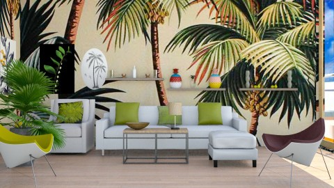 Tropical Prints 2 - Modern - Living room - by InteriorDesigner111