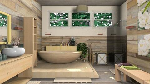 Wood bathroom idea - Country - Bathroom - by Ayisha1999