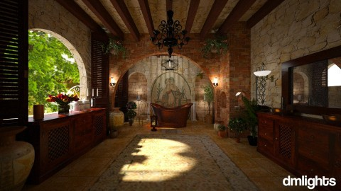 Tuscan bath - Country - Bathroom - by DMLights-user-1468788