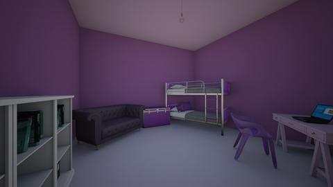 Everything Purple - Kids room - by gem27