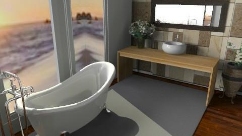 bathroom with a view - Rustic - Bathroom - by 2f5fe43g