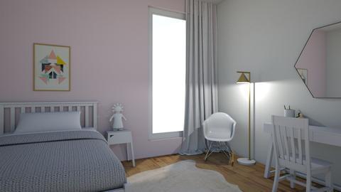 pink bedroom - by oggienarna