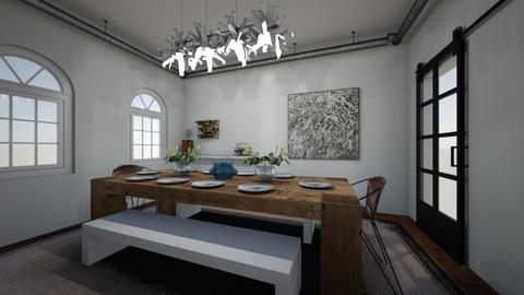 rustic - Dining room - by emmakatherinee