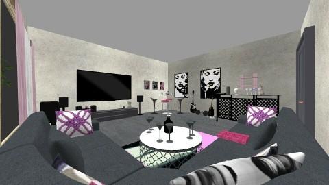 modern room - by anamariadumitrascu