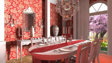 Ammel Mansion Dining Room - Glamour - Dining room - by steven0