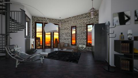 His - Modern - Living room - by Calolynn