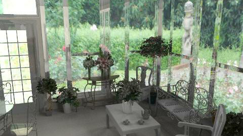Charmed Halliwell Manor Wintergarden - Vintage - Living room - by Lenii
