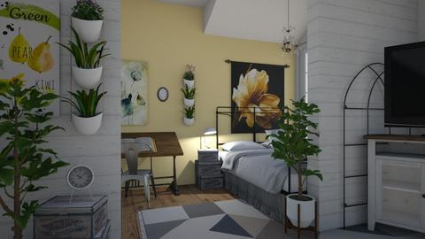 bright bedroom - Bedroom - by alpa rensie