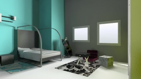 My Neon Bedroom - Retro - Bedroom - by paigelynn