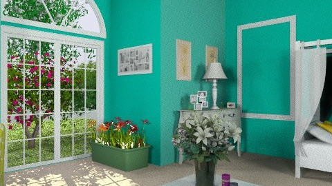 Turquoise - Feminine - Bedroom - by egrimsley