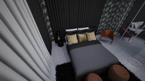modenr bedroom black - by Ju_dot