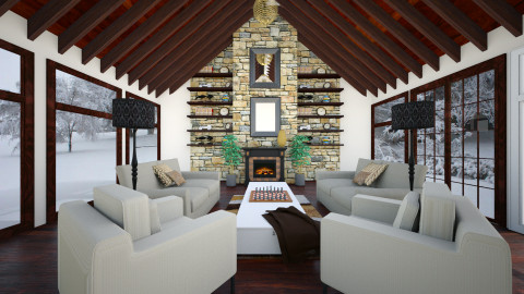 Cabin Fever - Rustic - Living room - by Addie Smooches