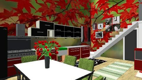red and green - Modern - Living room - by Enn