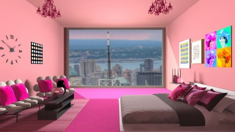 Pink Luxury - Glamour - Bedroom - by HGranger2
