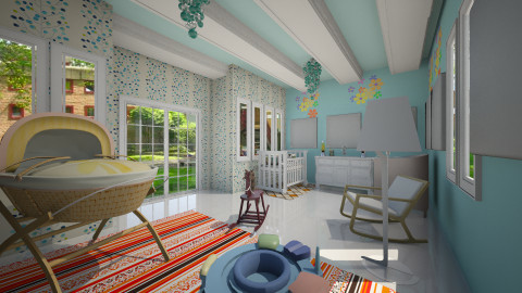 HAPPINESS - Modern - Kids room - by Angela Quintieri