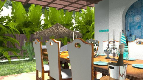 Tropical Dining - Country - Garden - by PomBom