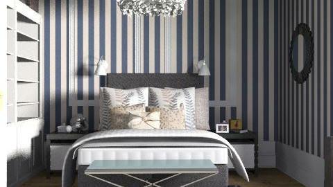 Stripy sleek sleepin' - Classic - Bedroom - by ovchicha