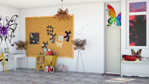 Fly Like A Butterfly - Modern - Office - by InteriorDesigner111