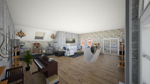 Attic room - Living room - by queenswan2001
