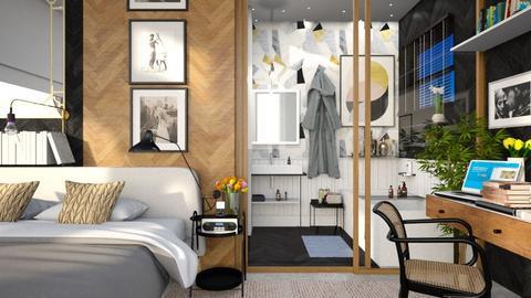 more is more bedroom - Bedroom - by anamarijag00