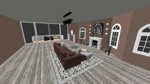 Chocolate living room - Modern - Living room - by DMLights-user-1305662