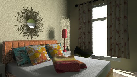 orange and green - Modern - Bedroom - by ash_luzadio