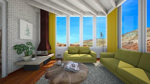 70s Cali - Retro - Living room - by mclaraop