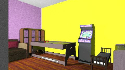 Games Room - Retro - Kids room - by inferno852
