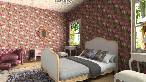 Royal bedroom - Glamour - Bedroom - by ninikunebi