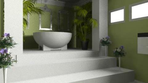 green bathroom - Modern - Bathroom - by auntiehelen