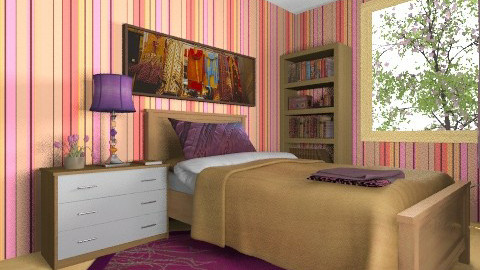 For Pawsycat 1 - Eclectic - Bedroom - by Theadora