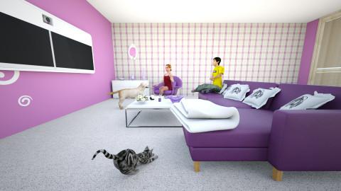 Purple heaven4 - Modern - Living room - by Teti