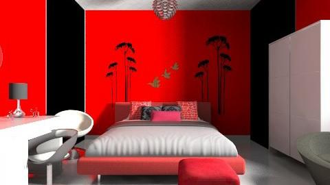 blackandred - Feminine - Bedroom - by Jen Guerra