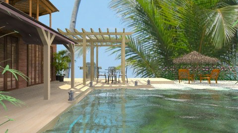 Bali vacation - Rustic - Garden - by Shelley0514
