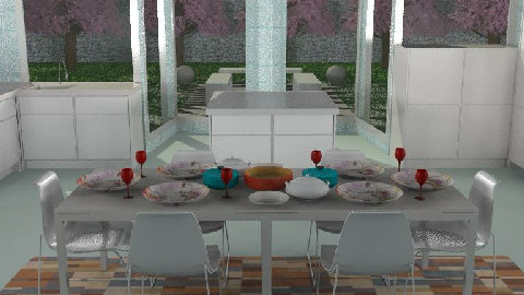 Habitat kitchen diningroom - Dining Room - by The_Hunter_and_Gatherer