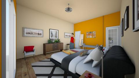 recamara - Retro - Bedroom - by ary