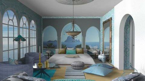 blue - Eclectic - Bedroom - by chania