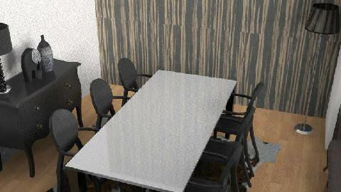 Black Dining Room - Dining Room - by yasemin04