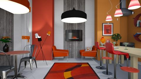 Comfy Cafe - Modern - Dining room - by Jessica Fox