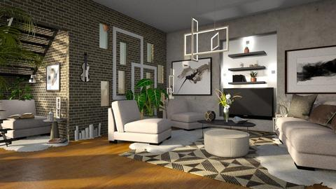 Modern Living room - by ZsuzsannaCs