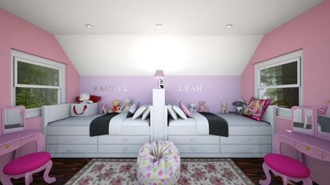 Twin Girls Bedroom - Bedroom - by SammyJPili