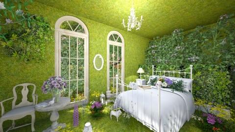 Green Room - Bedroom - by LaraLune
