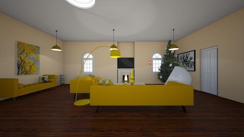 yellow living room - Living room - by danagriffith5