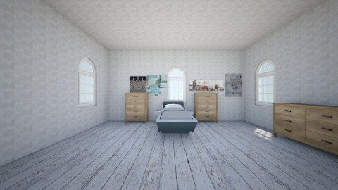 floor bed - Bedroom - by smatza
