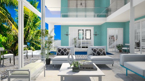 Beach Palace - Eclectic - Living room - by channing4