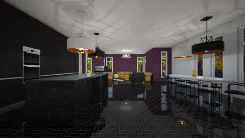 PUrple Accent - Living room - by JaidenLegg