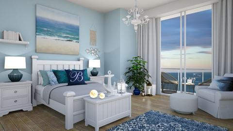Blue - Classic - Bedroom - by Zephyrs
