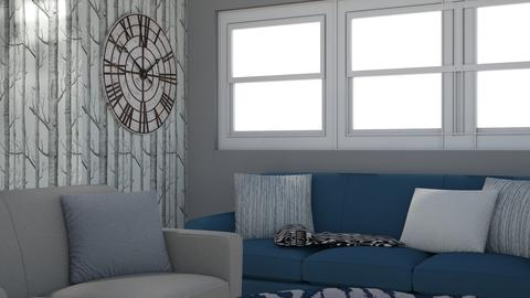 Navy Gray Living Space - Living room - by HermioneHedwigPotter