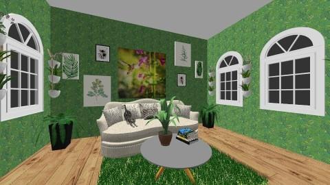 Green Leaves - Modern - Living room - by Snowella11
